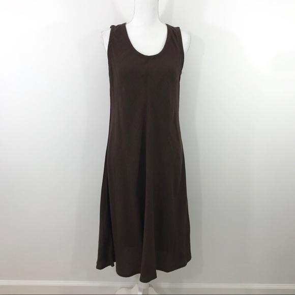 308ad392f9bc Eileen Fisher Dresses & Skirts - Eileen Fisher Brown flowy Linen Dress